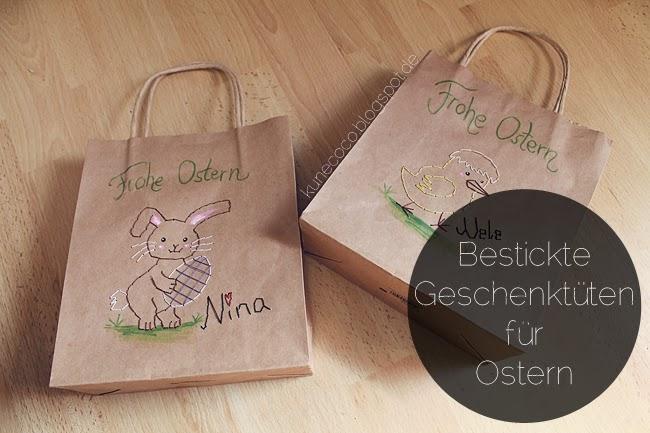 DIY // Bestickte Geschenktüten (Ostern)
