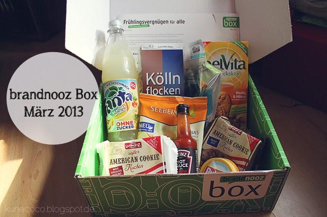 brandnooz Box März 2013