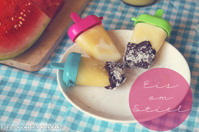 Eis am Stiel ~ Kokos-Ananas-Schoko-Eis!