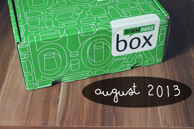 brandnooz Box August 2013
