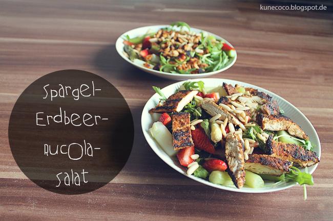 Rezept ~ Spargel-Erdbeer-Rucola-Salat in zwei Variationen + Gewinnspiel