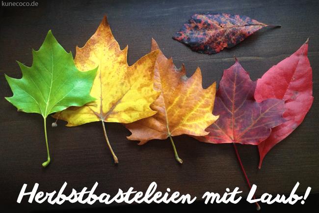 DIY ~ Herbstbasteleien mit Laub