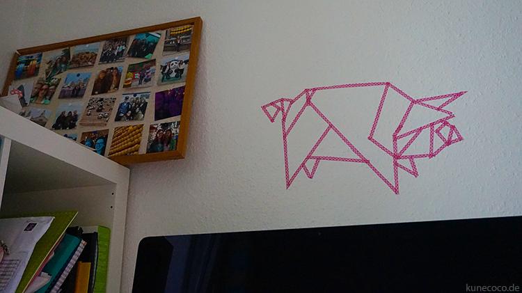 KuneCoco Origami Schwein aus Washi Tape