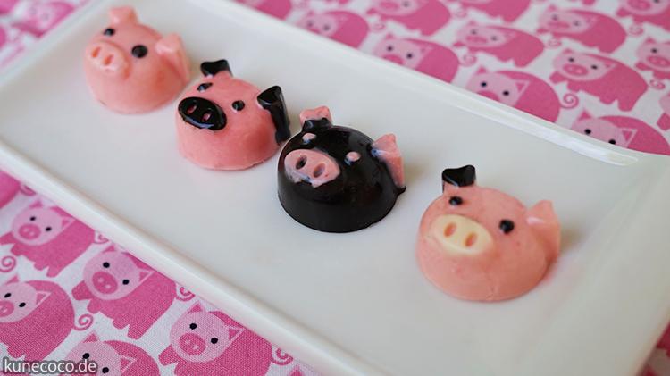 Süße Schweinerei: Pralinen in Schweineform