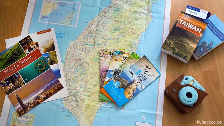 Reisevorbereitungen für Taiwan