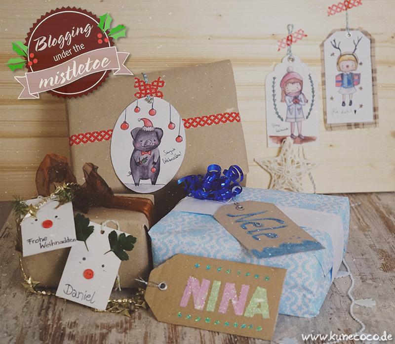KuneCoco • Blogging under the mistletoe • 3 Arten Geschenkanhänger + Freebie
