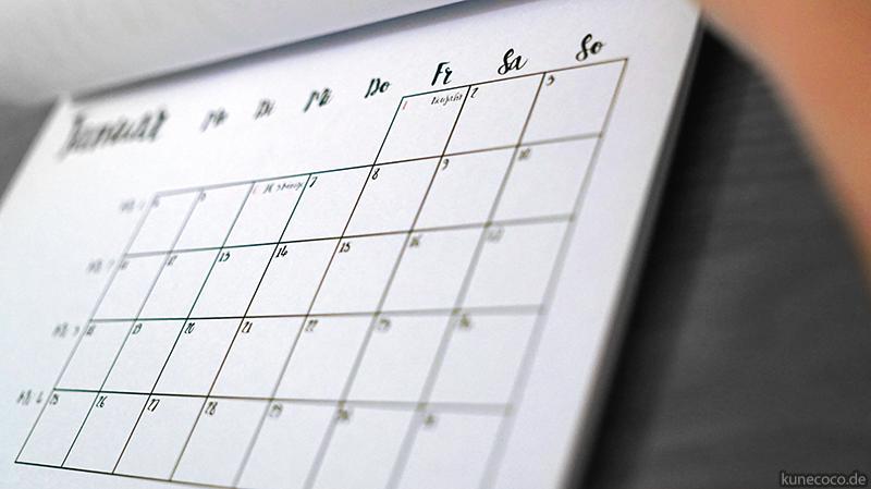KuneCoco • Kalender 2016 • Wandkalender