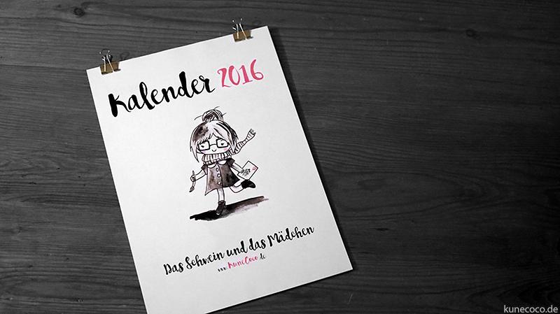 Kalender 2016 zum selbst ausdrucken + Freebie und Gewinnspiel