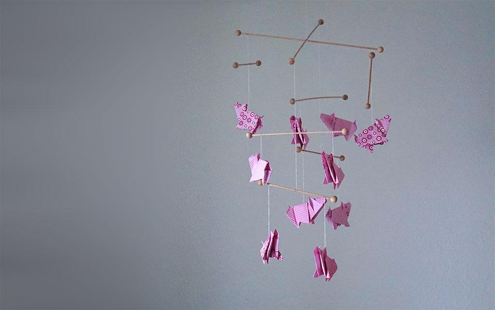 DIY ~ Schweine Origami Mobile