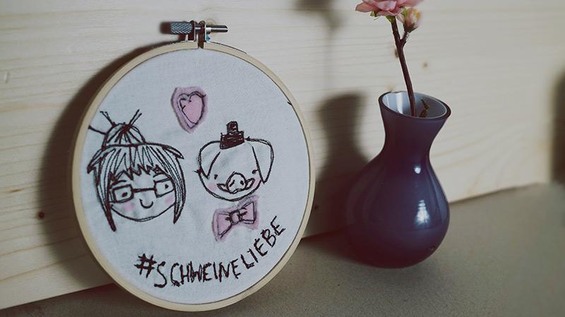 KuneCoco • DIY • 3 Ideen für Stickrahmen • Mit der Nähmaschine malen