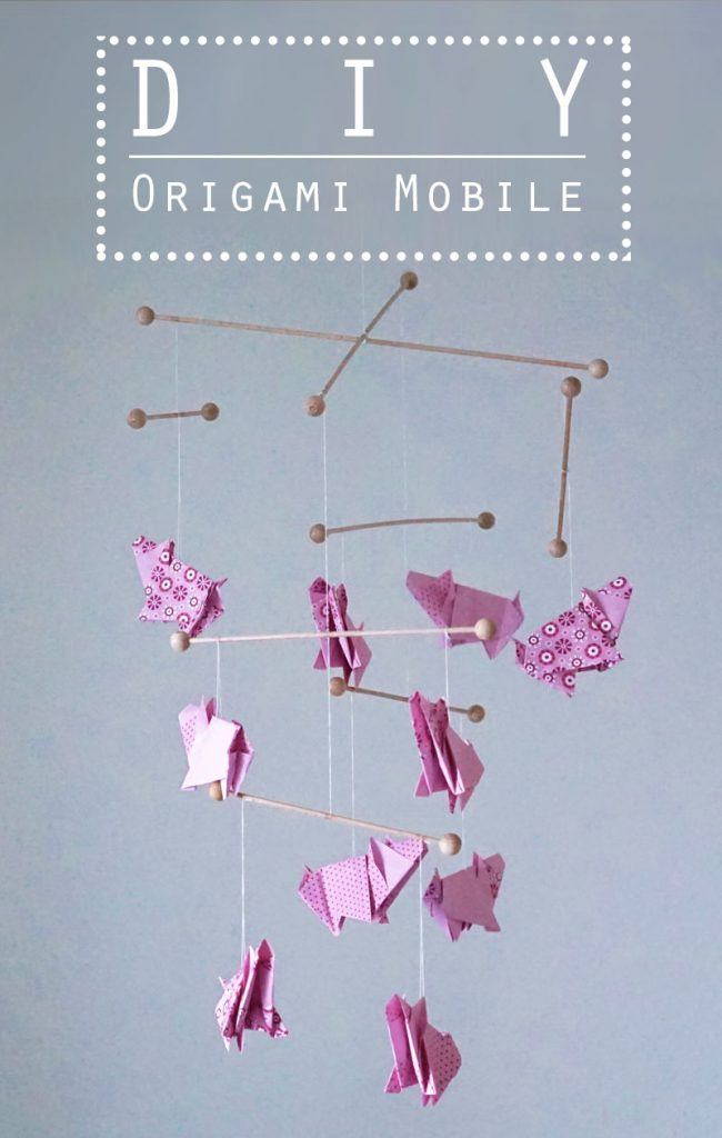 KuneCoco • DIY • Origami Mobile mit Schweinchen