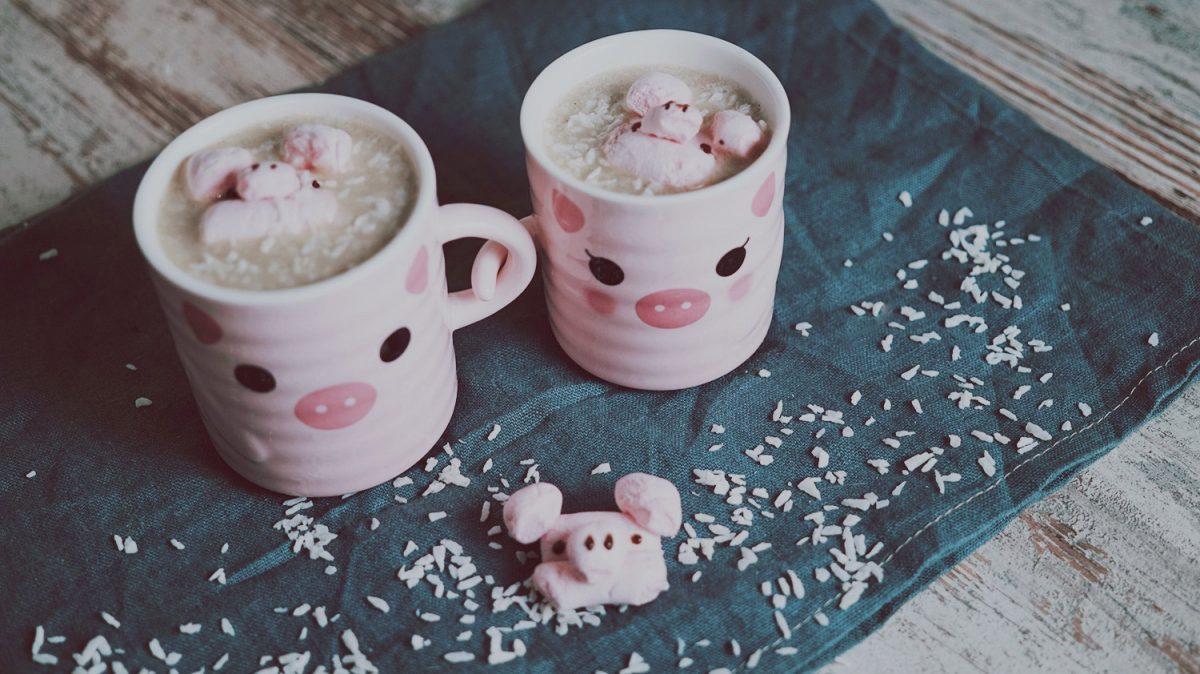 Rezept ~ Heisse weisse Kokos-Schokolade