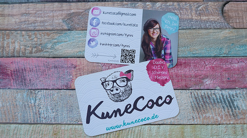 KuneCoco • Visitenkarten für den Blog • Die alten Visitenkarten