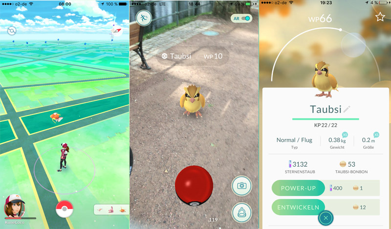 KuneCoco • Pokémon Go • Screenshots Pokémon fangen