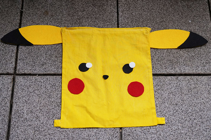 KuneCoco • DIY • Pikachu Rucksack #GottaBlogEmAll