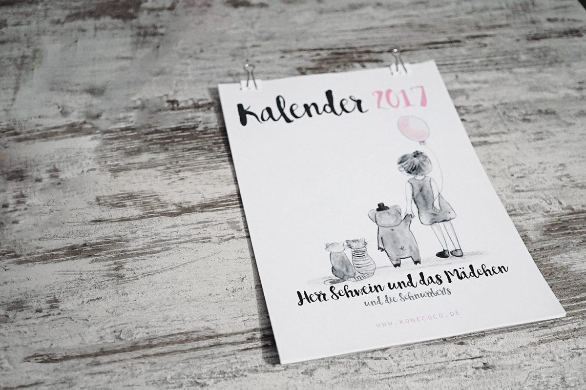 Kalender 2017 zum selbst ausdrucken + Freebie und Gewinnspiel