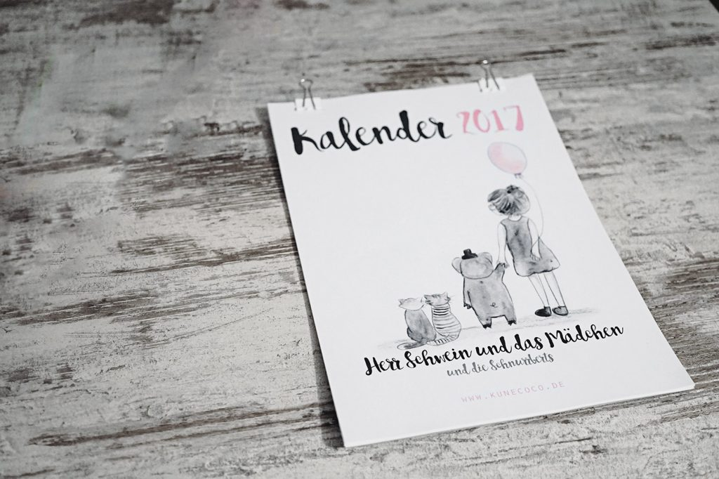 KuneCoco • Kalender 2017 zum selbst ausdrucken