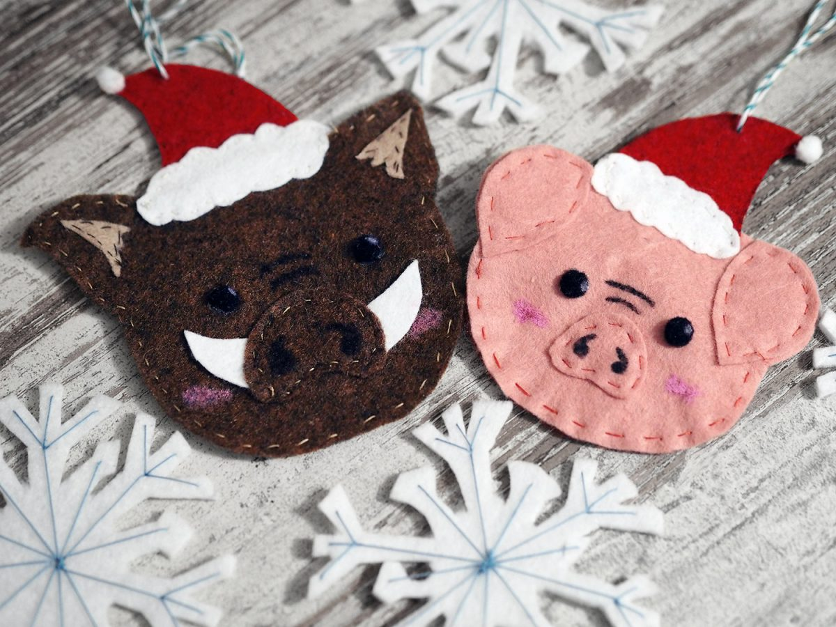 DIY // Schweihnachtliche Filzanhänger (create yourself a merry little christmas)