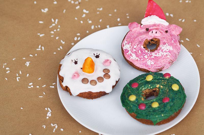 KuneCoco • Leckere Donuts • Schneemann, Tannenbaum, Weihnachtsschwein