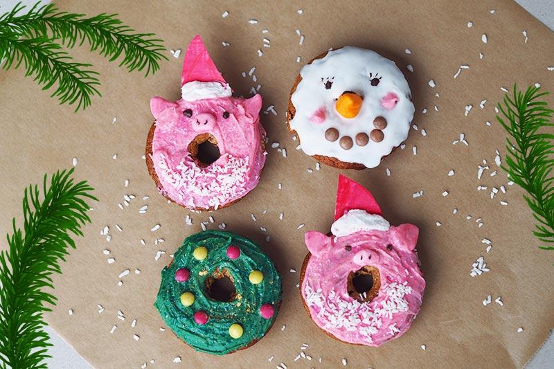 Rezept für weihnachtliche Donuts (Blogging under the mistletoe)
