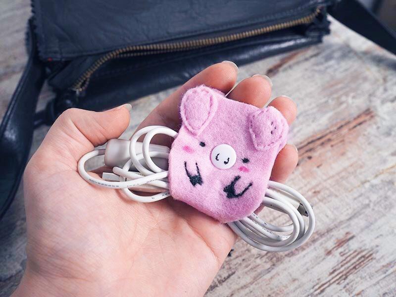 DIY ~ Schweine-Kabelhalter