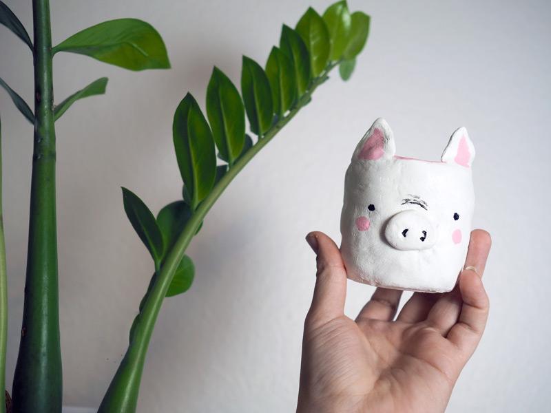 DIY ~ Schweinischer Blumentopf