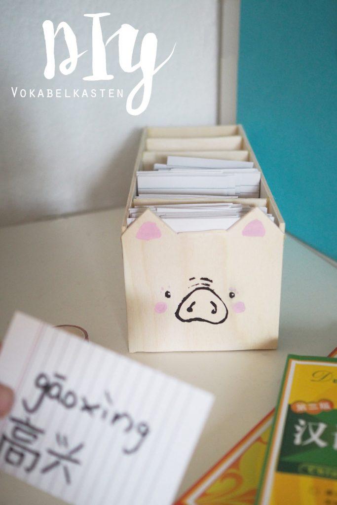 KuneCoco • DIY • Karteilkasten • leichter Vokabeln lernen mit dem Vokabelschwein <3