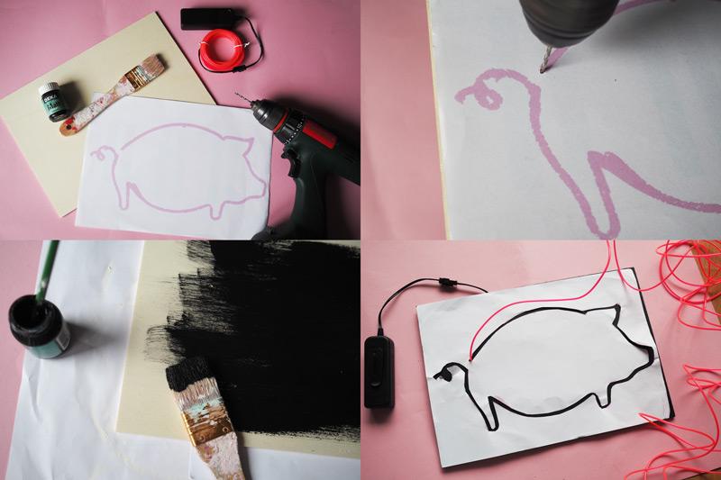 KuneCoco • DIY • Neonschild selbst gemacht • Anleitung