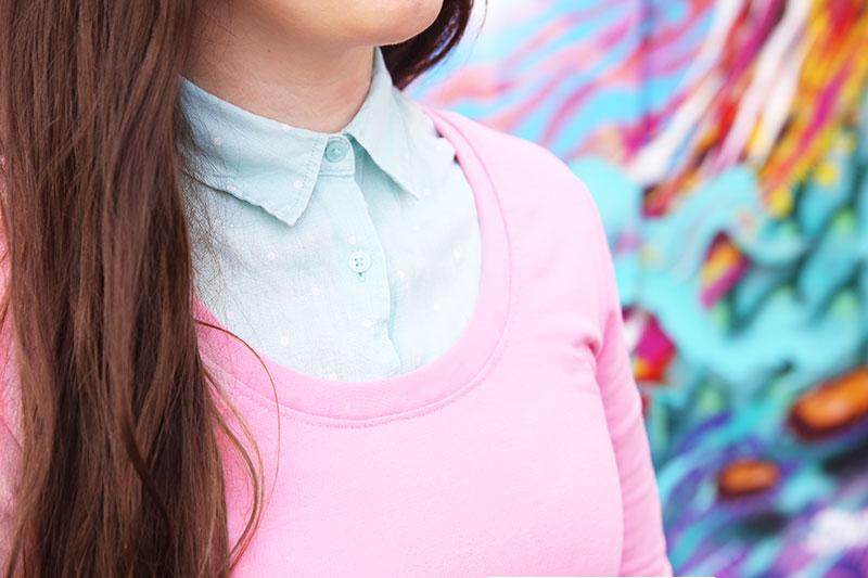 KuneCoco • #naehdirwas März • rosa Jerseykleid & mintfarbene Bluse