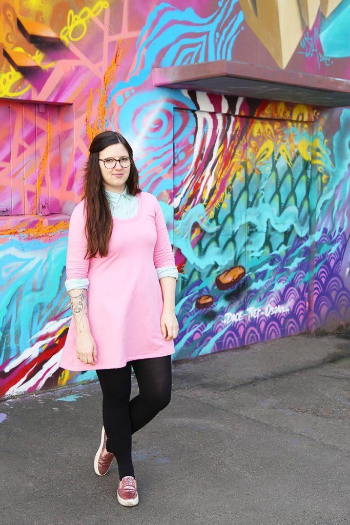 KuneCoco • #naehdirwas März • rosa Jerseykleid