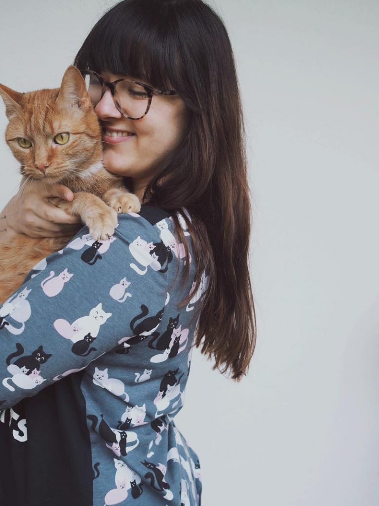 KuneCoco • #naehdirwas April • Tshirt mit Katzenmuster