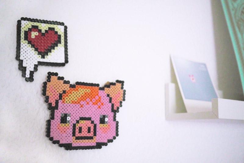 Schwein aus Bügelperlen