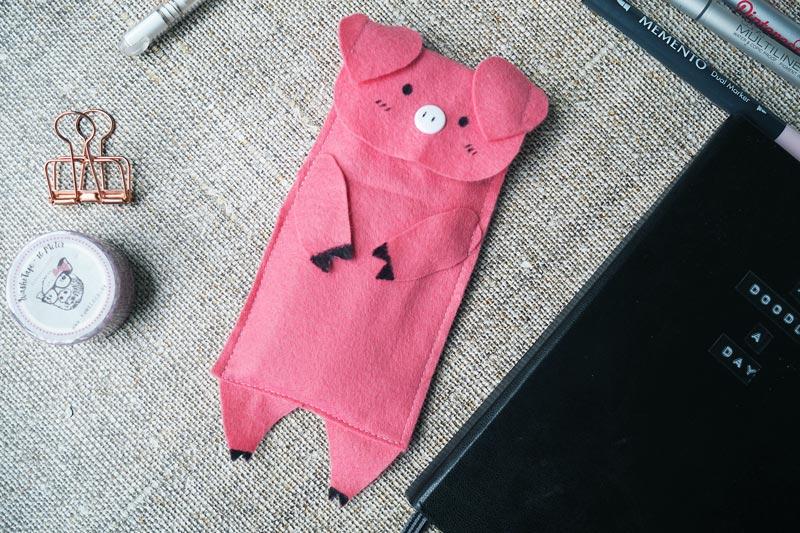 DIY // Schweine-Mäppchen