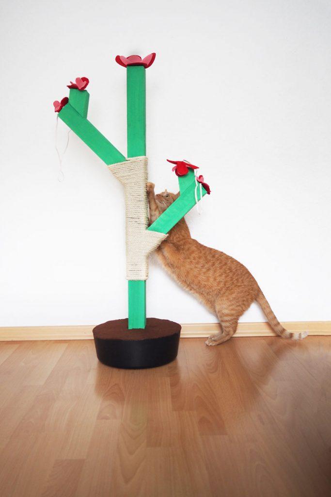 DIY für einen Kratzbaum in Kaktus-Form