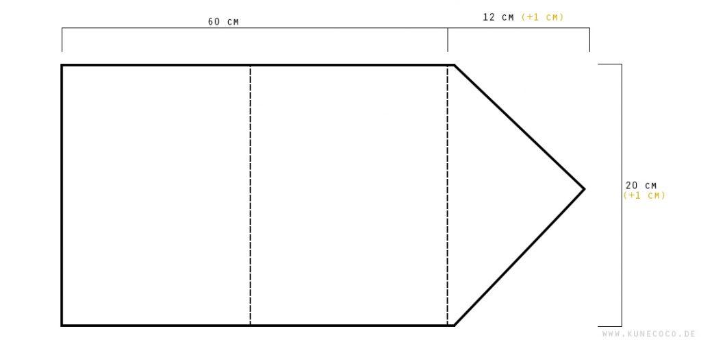 Schnittmuster Clutch im Briefumschlagformat