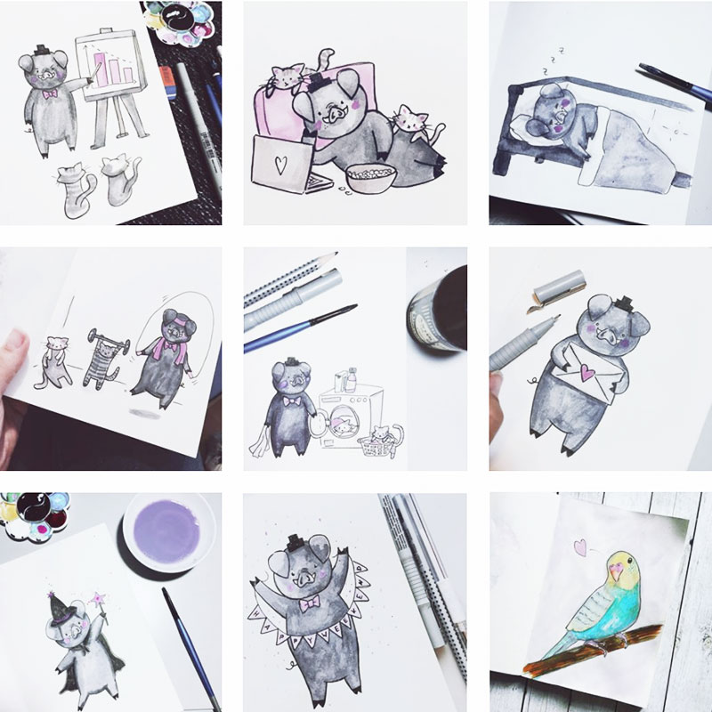 Inktober 2017 • Meine 31 Doodles (Video)