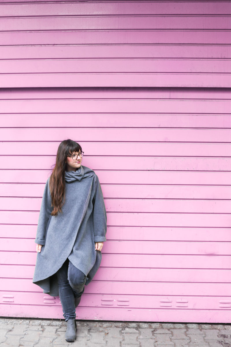 Flauschiger Mantel aus Fleece #naehdirwas