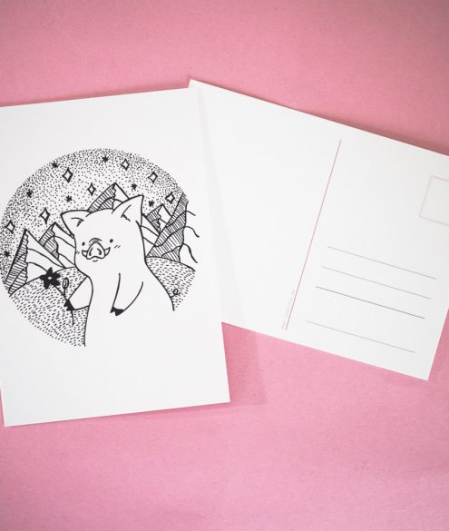 Postkarte Bergschwein