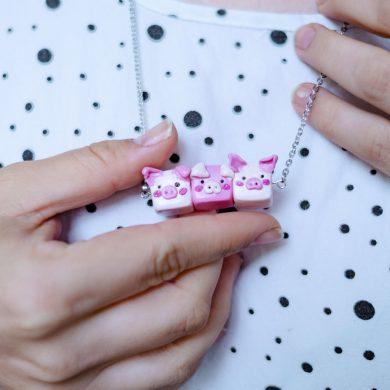 KuneCoco • DIY • Fimo Schweinchenkette