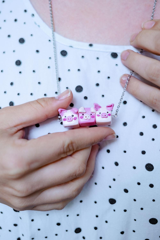 DIY Schweinchenkette aus Fimo