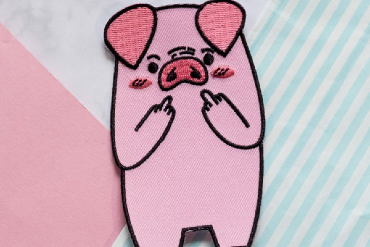 "KuneCoco Shop • Patch ""F*ck you Pig"""